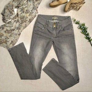 🔴 Cabi Grey Straight Leg Jeans